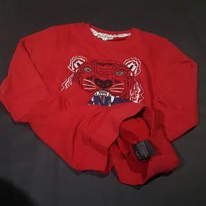 sweatshirt kenzo red